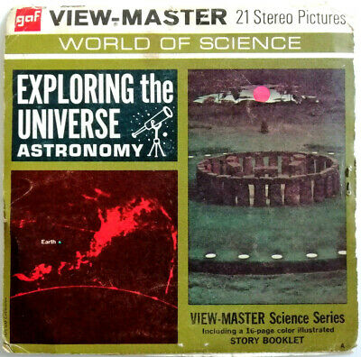 3x VIEW MASTER REEL / EXPLORING the UNIVERSE +BOOKLET / SCIENCE SERIES ASTRONOMY