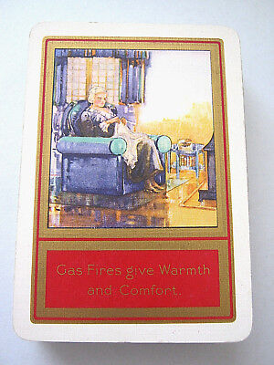 VINTAGE PLAYING CARDS WIDE ART DECO DESIGN FOR BRITISH GAS FIRES GOODALL 1920s
