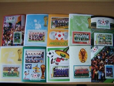 Football Minature Sheets 10 Diff British Commonwealth.