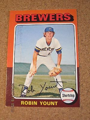 1975 OPC O Pee Chee #223 Robin Yount - Milwaukee Brewers Rookie Card          QQ