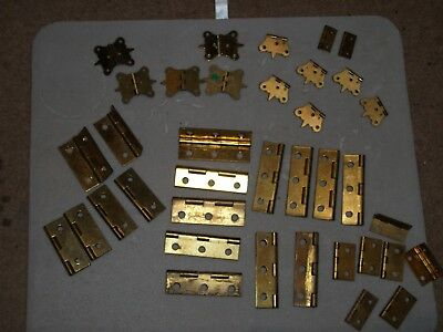 Antique-Vintage Solid Brass Hinges, Home, Crafts, Renovation EXC, Condition