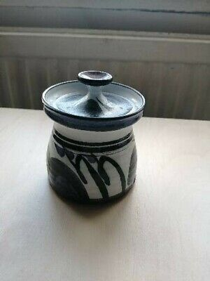 Small Studio Pottery Pot with Lid