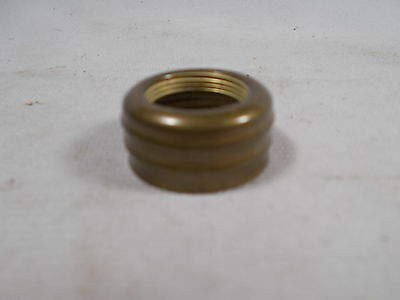 Victorian Antique Brass Double Ring Nutmeg Miniature Burner Oil Lamp Collar