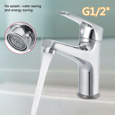 Chrome Waterfall Bathroom Sink Faucet Basin Mixer One Hole Cold & Hot Water Tap