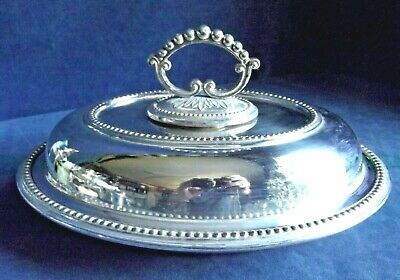 "SUPERB Large 11"" ~ SILVER Plated ~ SERVING DISH ~ c1900"