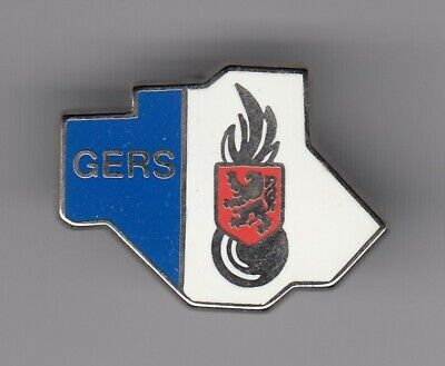 Rare Pins Pin's .. Gendarmerie Nationale Carte Map Departement Gers 32 ~El