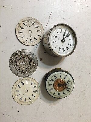 Antique Lot Of Ansonia Novelty Or Alarm Clock Movement Parts #2