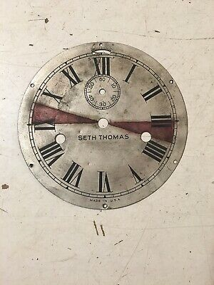 Antique Seth Thomas Lever Action Ships Clock Dial Marine Or Locomotive #2