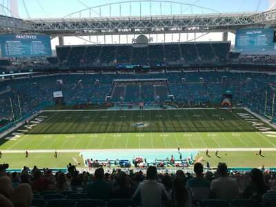 4 Midfield Tickets Miami Dolphins vs New England Patriots 9/15