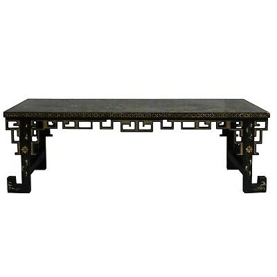 Chinese Lacquered Song Ming Style Low Kang Table Zither Stand cs5113