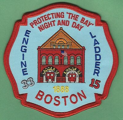 Boston Fire Department Engine 33 Ladder 15 Company Patch
