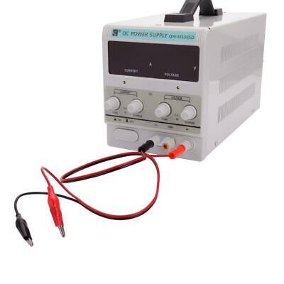 5A Digital DC Power Supply Variable Lab Bench Test Equipment Tool w/Clip Cable