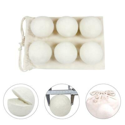 6PCS Natural Reusable Wool Dryer Ball Drying Fabric Softer Luandry Washing 6CM