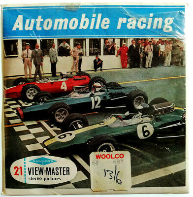 3x VIEW MASTER REEL / AUTOMOBILE RACING / AUTORENNEN / + BOOKLET / B671-E / GT