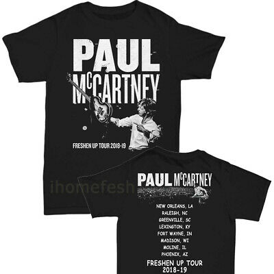 Paul McCartney shirt 2019 Freshen Up Concert Tour T-shirt size Men Black Hanes