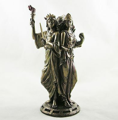 Hekate Goddess of Magic Triple Figurine Goddess Hecate Wiccan Statue Ornament