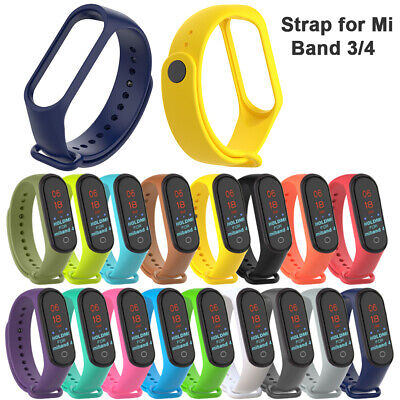 New Replacement Silicone Bracelet Wristband Wrist Strap for Xiaomi Mi Band 4 3