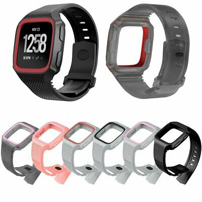 NEW Silicone Watchband Strap Bracelet Replacement For Fitbit Versa Smart Watch