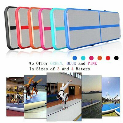 3/4M AirTrack Inflatable Air Track Tumbling Floor Home Gymnastics Yoga Mat GYM