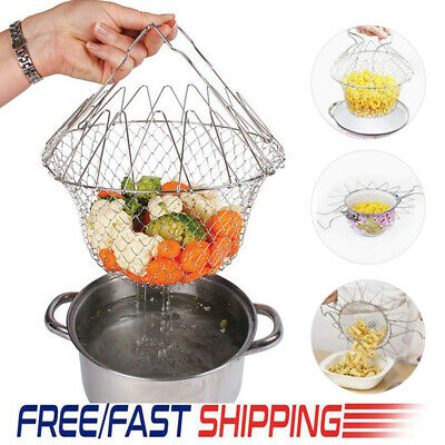Food Preparation & Tools Home, Furniture & DIY French Fries Basket Stainless Steel Food Colander Round Mesh Cookware 18cm