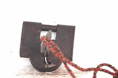 Iron Lock and New Key Old Vintage Rare Antique Collectible S-82