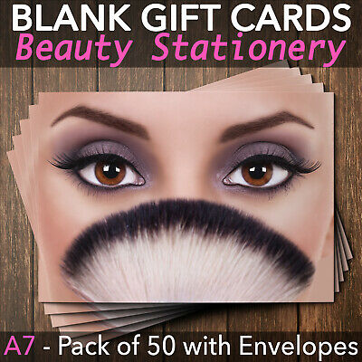 Gift Voucher Card Beauty Makeup Eyes Facial Treatment Cosmetics - x50 + Env.