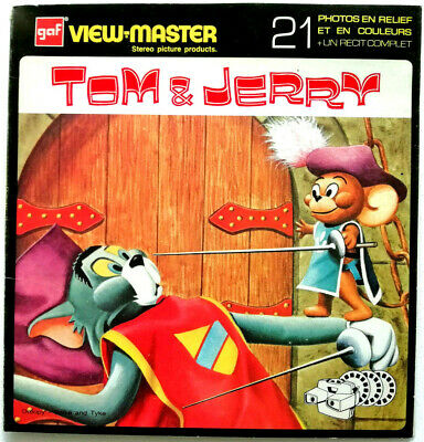 "3x VIEW MASTER REEL "" TOM & JERRY "" © 1956 / GROSSALBUM NB 511-F France French"