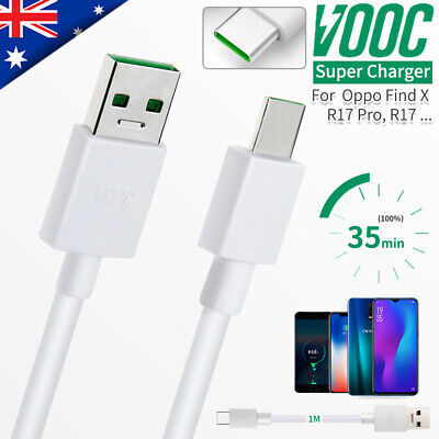 Genuine OPPO R17 R19 Pro Reno Find X 4A VOOC Type-C Fast Charger Charging Cable