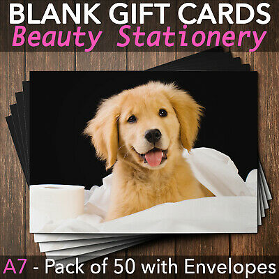 Gift Voucher Card Veterinarian Vet Pet Cosmetics Veterinary - x50 + Envelopes