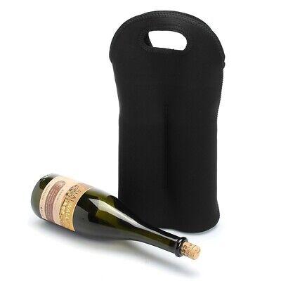 Wine Carrier Bag Insulated 2 Bottle Cooler Protection Carrying Tote Travel