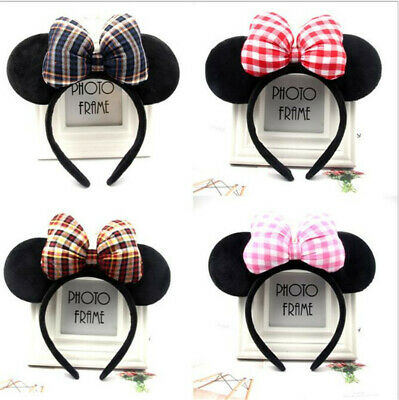 Mickey /Minnie Mouse Hair Band/ Ears Bow Head Band for Woman Girls Party Simple