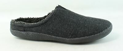 31a6de533 TOMS Mens Berkeley Black Herringbone Woolen Mule Slippers Size 12 (239753)