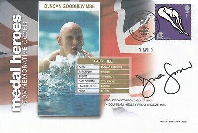 Medal Heroes Signed by Duncan Goodhew MBE  Swimming Won Gold & Bronze