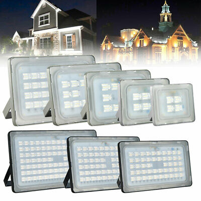 20/50/100/200/300W LED Security Floodlight Cool Warm Outdoor Spot Flood Lamp
