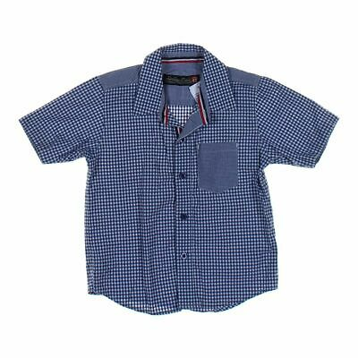 Sovereign Code Boys Shirt, size 4/4T,  blue/navy, white,  cotton, polyester