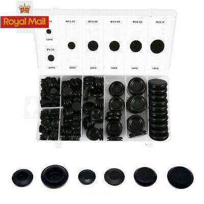 5pcs Black Rubber Closed Blind Blanking Hole Wire Cable Grommets 25mm B3R1 3X