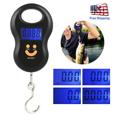 Digital Fish Scale Mini Pocket 50Kg/5g Hanging Hook Luggage Travel Weight 110 lb