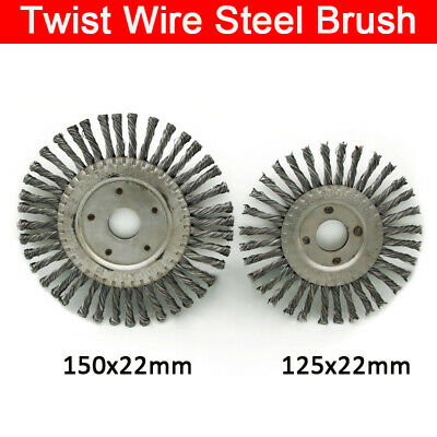 Stainless Steel Twisted Knot Radial Wire Brush Wheels 150*22mm / 125*22mm New