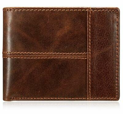 Men's Classic Vintage Brown Genuine Premium Leather Handmade Bi-fold Wallet