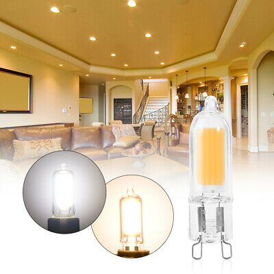 6PCS G9 8W Clear Transparent COB LED Dimmable Bulb Replace Halogen Light Lamps