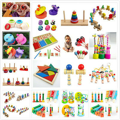 Wooden Toy Baby Kid Children Intellectual Developmental Educational Cute Toys WD