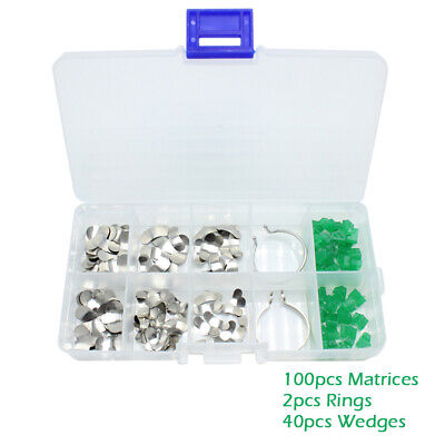 Sectional Contoured Dental Metal Matrix Kit - 142 pcs