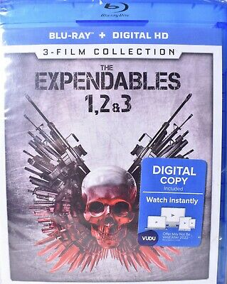 THE EXPENDABLES 1/One, 2/Two, & 3/Three (Blu-Ray + Digital, See Notes) >NEW<