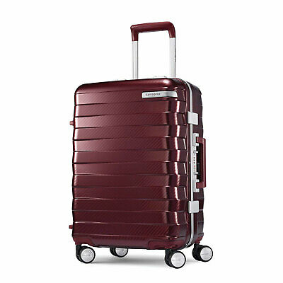 "Samsonite Framelock Hardside Carry On Luggage with Spinner Wheels 20"" Cordovan"