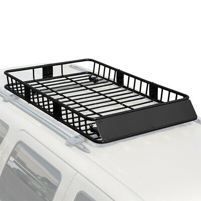 """Universal 64"""" Black Roof Rack Extension Cargo Top Luggage Hold Carrier Basket"""