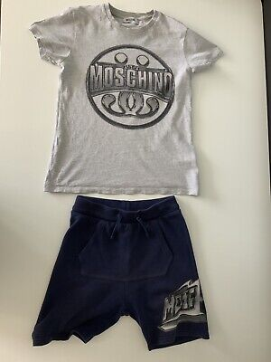 Moschino Teen 2 Piece Outfit Set Shorts & T Shirt Age 10-12 Years Gc
