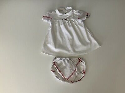 Burberry 2 Piece Outfit Set Dress Age 12m Months Vgc Baby Girls