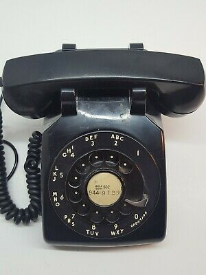 Vintage 1953 Rotary Phone Black Telephone Bell System Western Electric w/jack