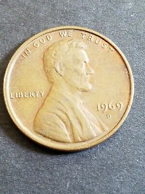 1969 D* ERROR FLOATING ROOF Variety Lincoln Memorial Penny One Cent