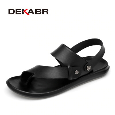 Dekabr Men's Classic Sandals Comfortable Summer Men's Casual Leather Shoes New